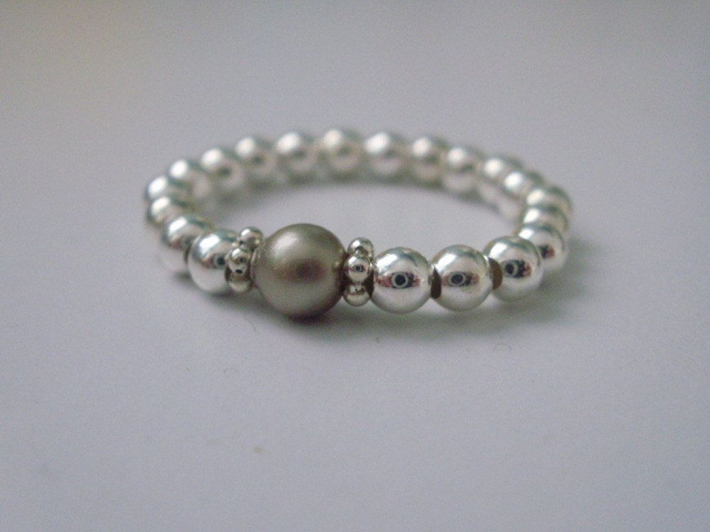 3mm Sterling Silver Beads Sterling Silver Stretch Toe Ring