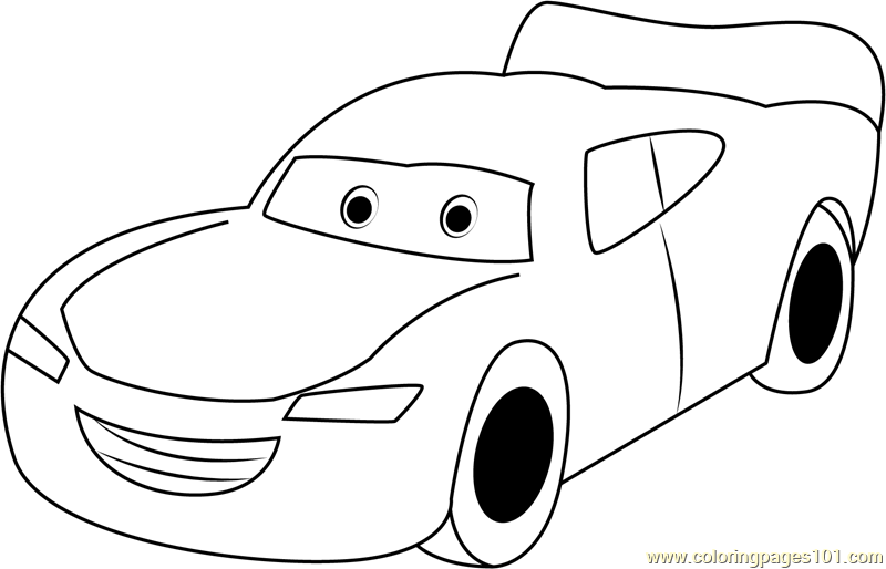 Lightning McQueen printable coloring page for kids and