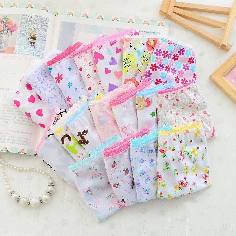 26062f86d6f  4.87 - 6Pcs Baby Kid Girls Underpants Floral Soft Cotton Panties Underwear  Short Briefs  ebay