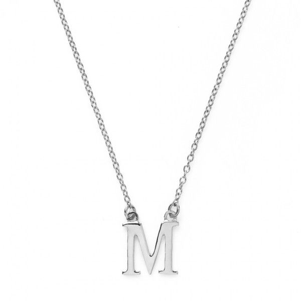 Letter m initial necklace famous necklace 2018 14k gold letter script m diamond initial pendant necklace aloadofball Gallery