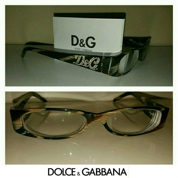 Eye Glasses *100% AUTHENTIC Dolce & Gabbana Glasses* Lenses Width: 52mm Nose Bridge: 15mm Temple Length: 135mm Lenses Height: 24mm These Glasses Comes With Certification, Original Case & Lens Cloth Cleaner.  *There is NO sign of wear whatsoever on the frames.  *Prescription Lens are in these glasses and can be replaced at your local eye physician.  *The color of the frames are tan and dark brown *I never did wear them much because I preferred wearing contacts. Dolce & Gabbana Accessories…