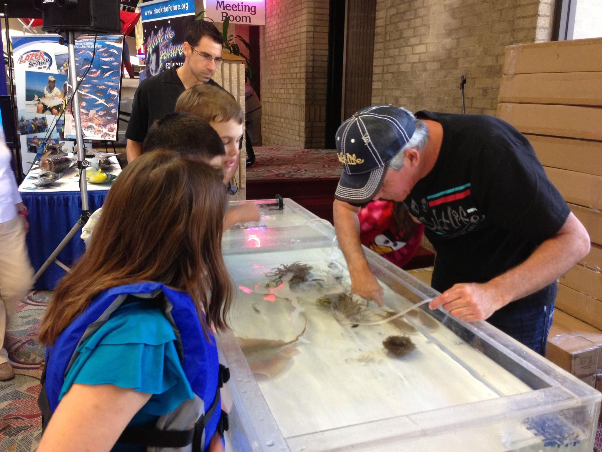 Kids love the touch tank!