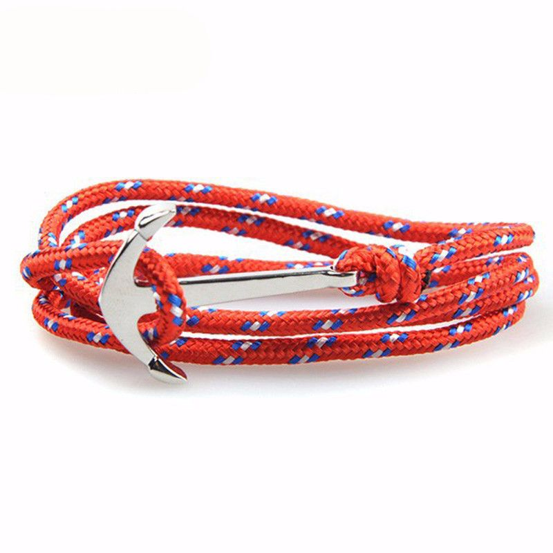 Anchor & Rope Wrap  Bracelet for Men