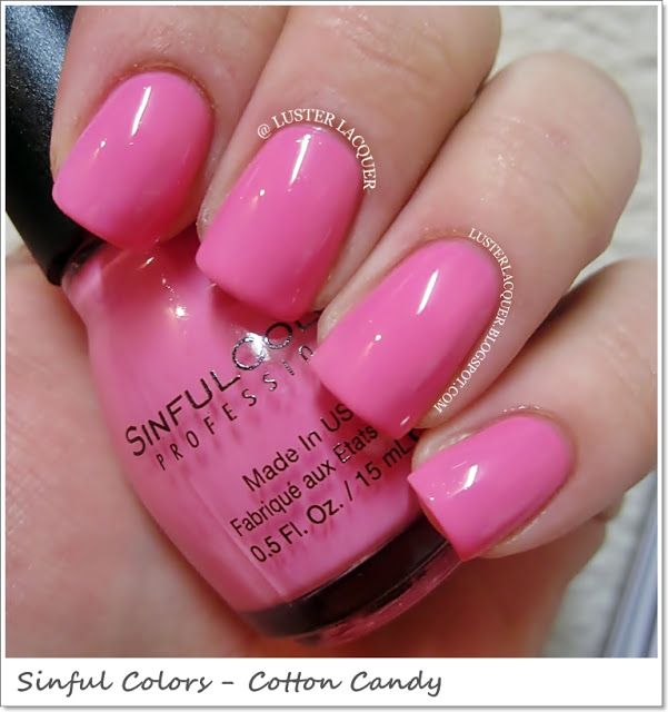 Cotton Candy Nail Color: Sinful Colors -Cotton Candy