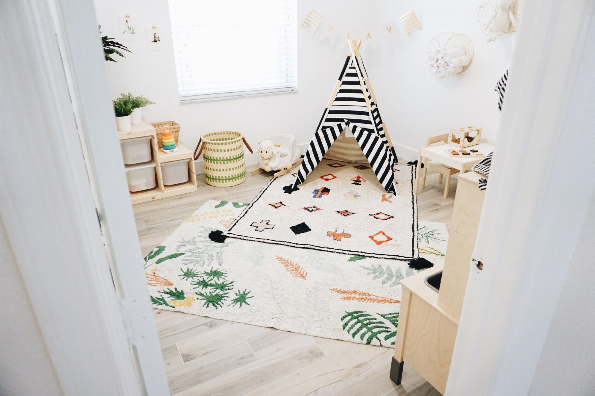 Playroom Makeover, Playroom, Boho Playroom, Washable Rugs, Washable Rug, Lorena