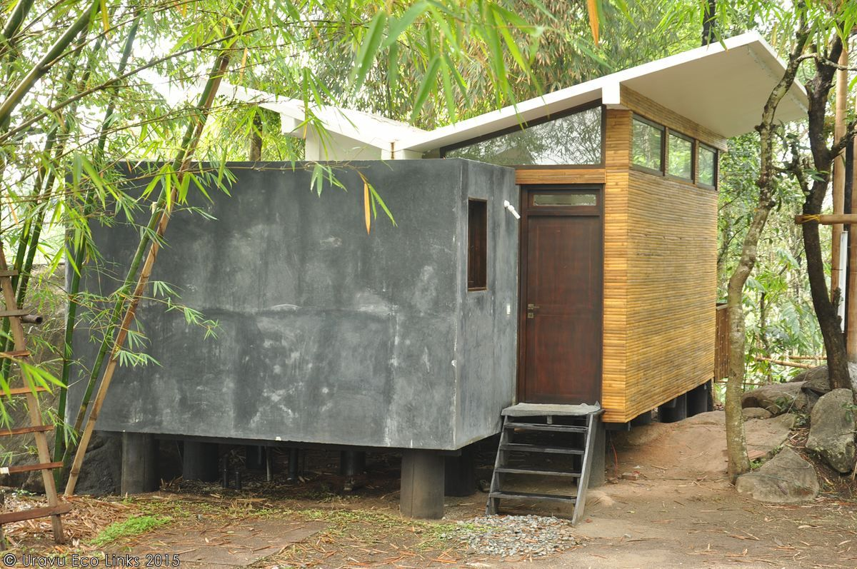 discover eco grove cabin rentals on links by rock uravu pin elk banner bamboo cabins the jungle
