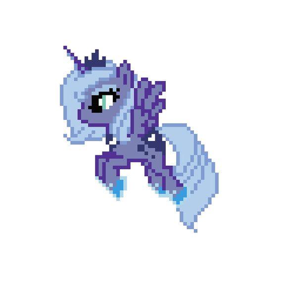 PATTERN - My Little Pony - Princess Luna - Cross Stitch $3.00 USD ...
