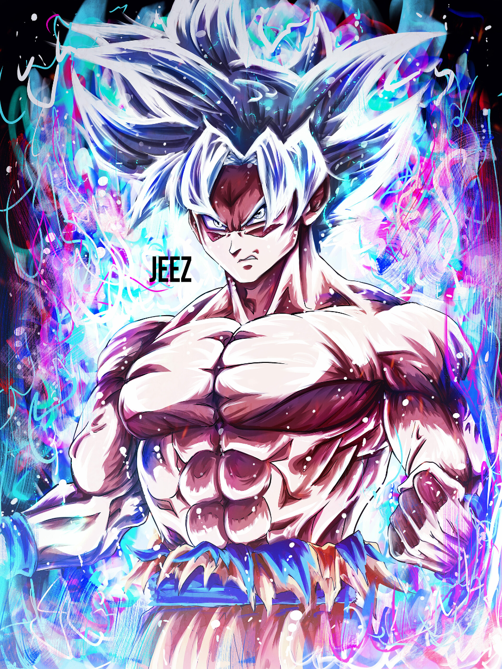 Artstation Mastered Ultra Instinct Goku Jeez Art In 2020 Dragon Ball Wallpaper Iphone Anime Dragon Ball Super Dragon Ball Painting