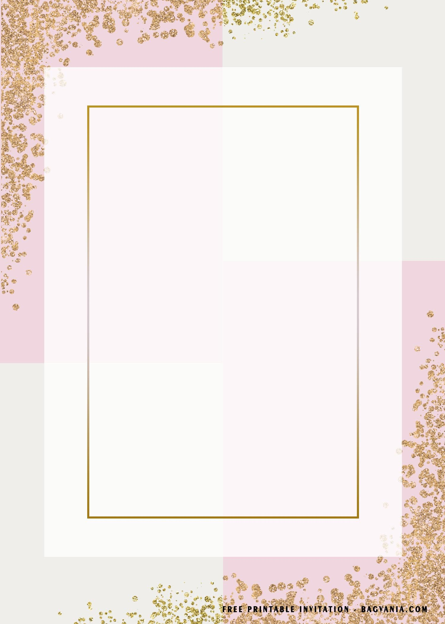 Free Printable Blank Rectangle Birthday Invitation Templates Floral Invitations Template Birthday Invitation Templates Invitation Template Free printable blank invitations template