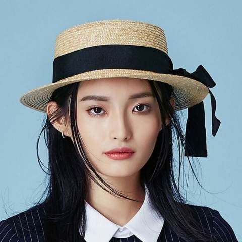 Large bow straw boater hat for women travel summer sun hats  e2c631af63d1