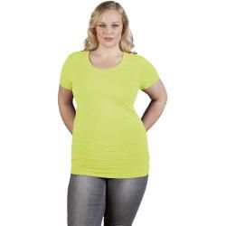 Photo of Slim-fit v-neck t-shirt long plus size women sale, wild lime promodoropromodoro