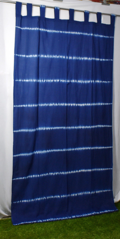 Handmade Bohemian Curtain Boho Decor Beach Curtains Blue And