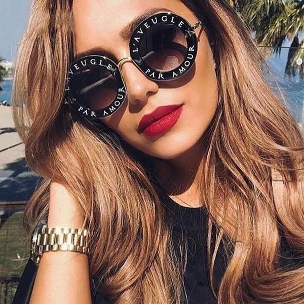 Retro Round Stylish Frame Sunglasses
