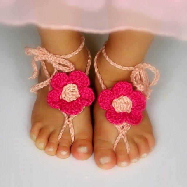 Toddler Barefoot Sandals Free Crochet Pattern | украшения ...