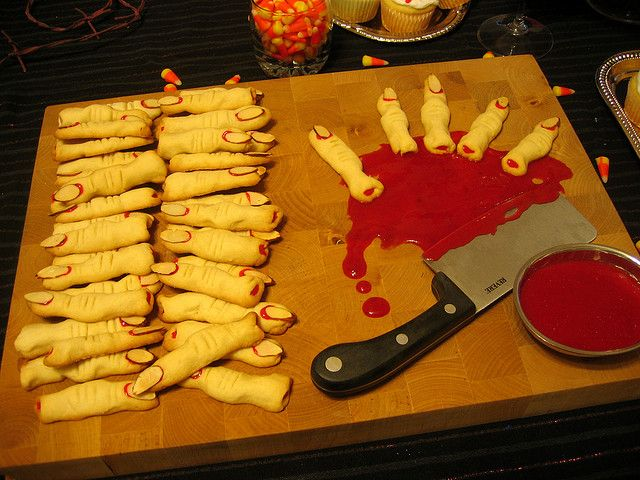 Severed Finger Cookies Success! halloween food ideas   - halloween catering ideas