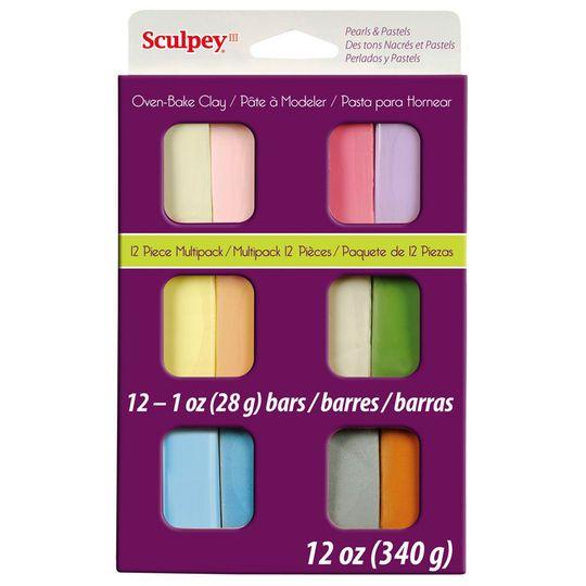 Sculpey III Oven Bake Clay, Pastel Multipack