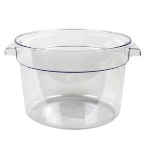 12 Qt Clear Round Food Storage Container Food Storage Storing Spices Food Storage Containers