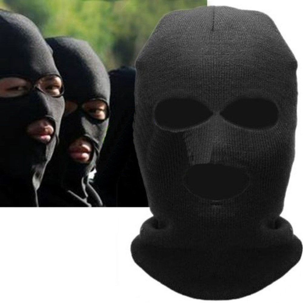 880f99a68824 Winter Warm 3 Hole Knit Ski Mask Balaclava Snowboard Full Face Mask Beanie  Neck Warmer Skiing