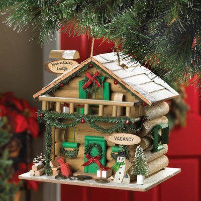 Zingz & Thingz Holiday Mountain Lodge Hanging Birdhouse
