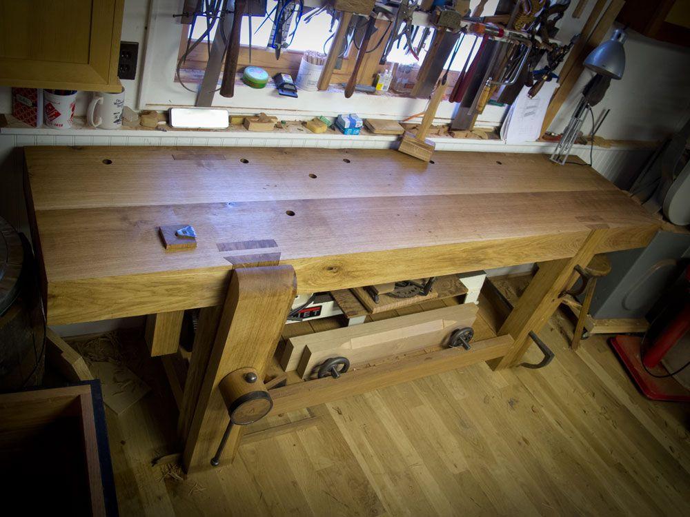 Oak Slab Workbench by Chris Schwarz