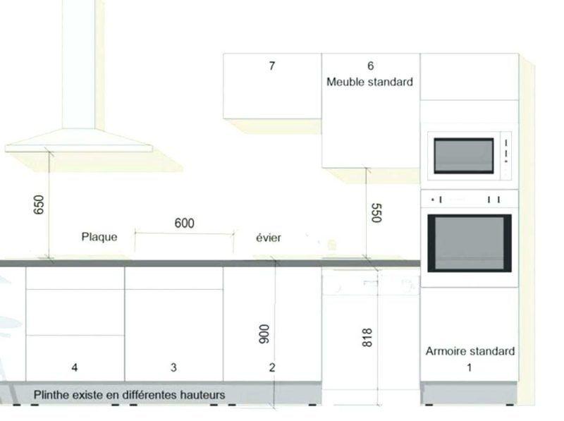 Aménagement de cuisine  dimension et hauteur standard des meubles