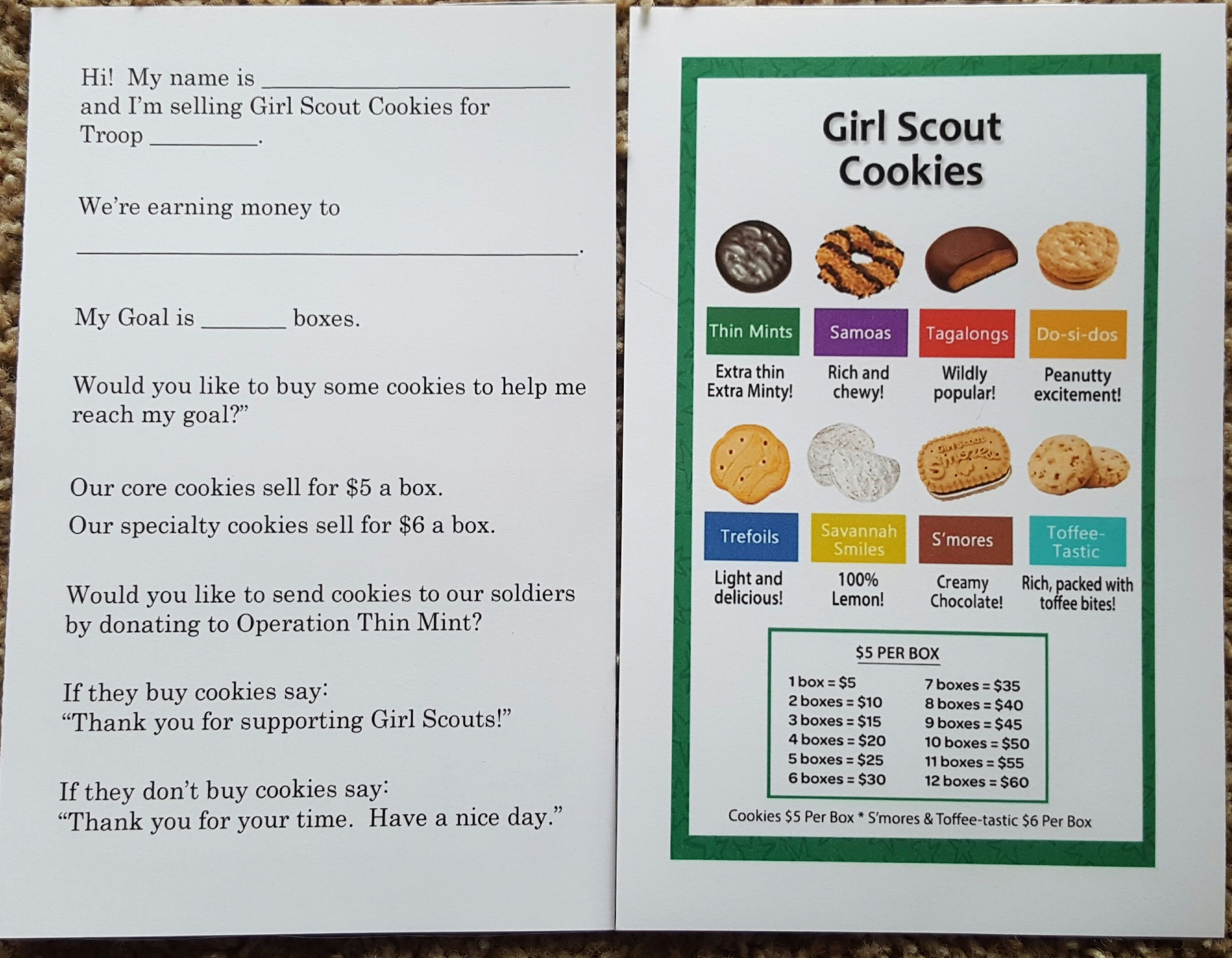 photograph about Girl Scout Cookie Thank You Notes Printable known as Pin upon Lady Scout Cookies