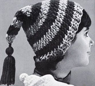 Stocking Cap knit pattern from High Fashion Hats, originally published by Bernhard Ulmann, Volume 62, in 1961.
