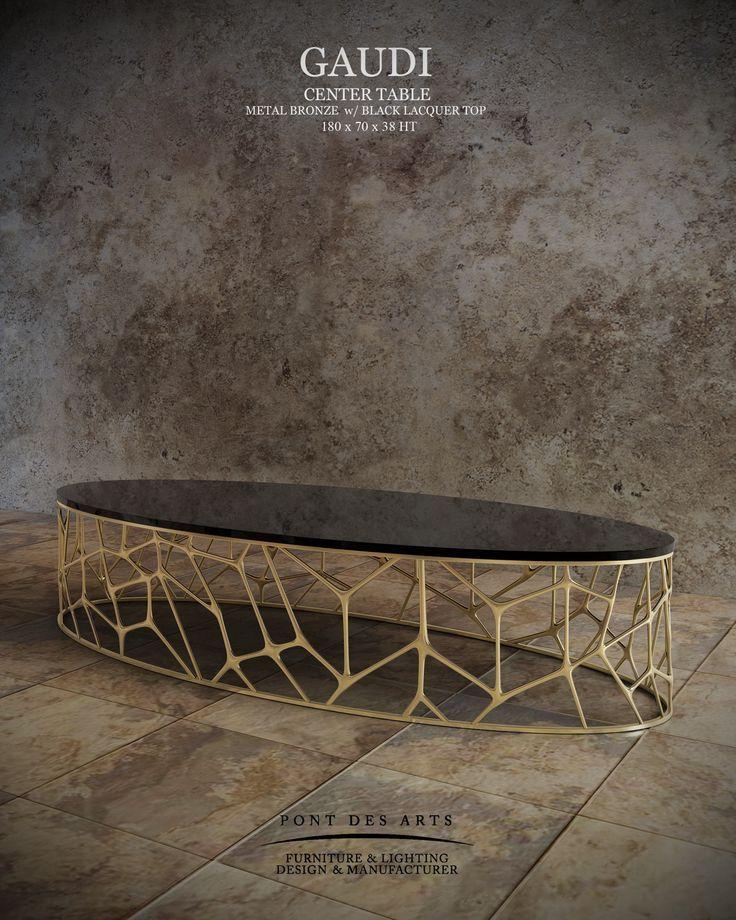 Gaudi center table pont des arts studio designer for Mobilia center e confiavel