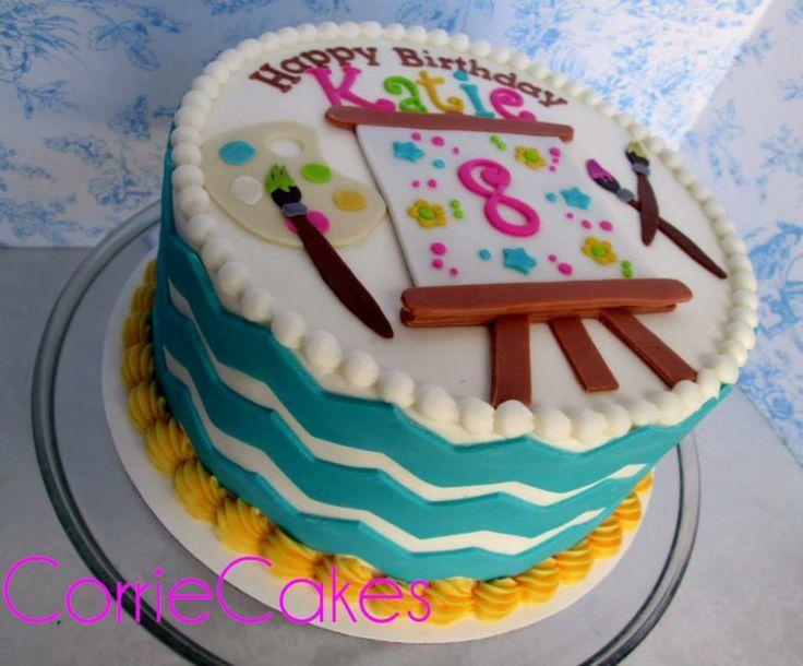 Paint Themed Birthday Cakes paint/art themed birthday ...