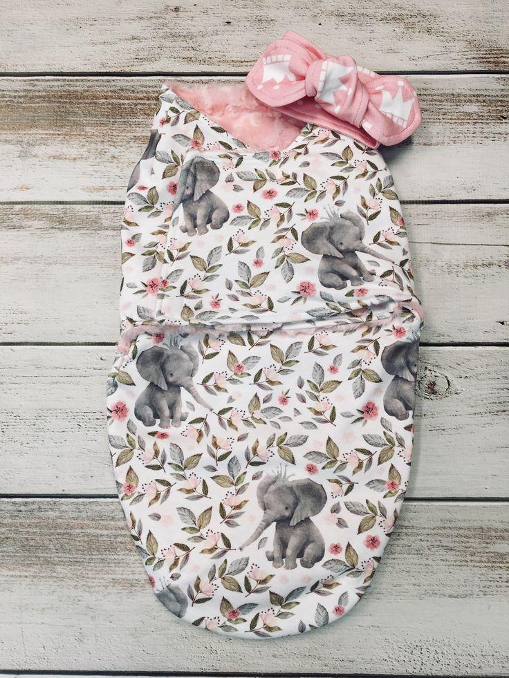Photo of Swaddle Set Girl, Swaddle Sack Girl, Swaddle And Headband Set, Cocoon Swaddle