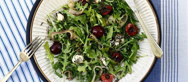 Cherry, Arugula, and Forbidden Rice Salad