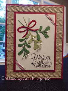 Holiday catalog sneak peeks and testing the new Dynamic Folder…. ann F cable knit embossing folder, Pretty Pines thinlets, Tin of Tags