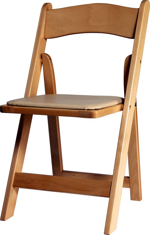 Natural Wood Padded Folding Chair Wfnat By Advanced Seating By