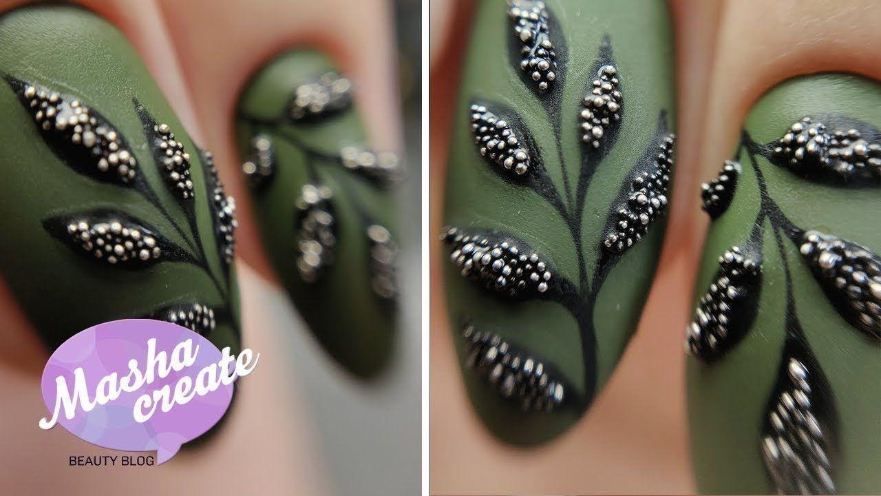 дизайн ногтей бульонками 7
