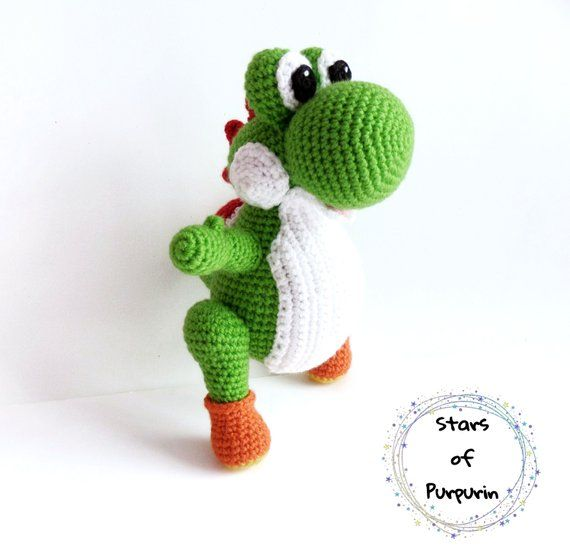 Yoshi - Amigurumi inspired by Yoshi - Mario Bros, Super Mario ...