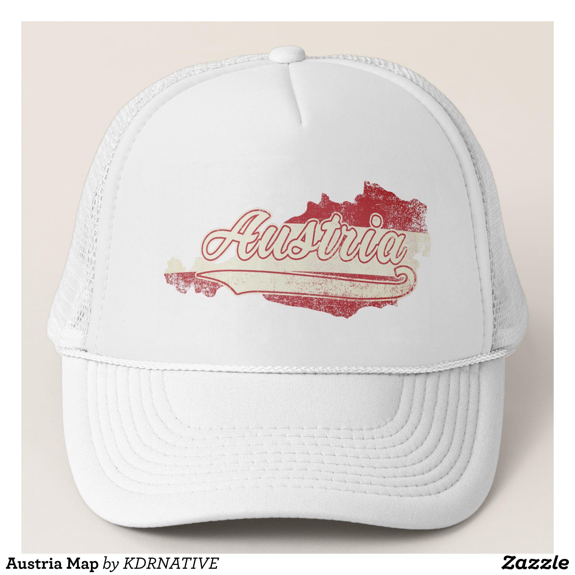 Austria Map Trucker Hat - Urban Hunter Fisher Farmer Redneck Hats By ...