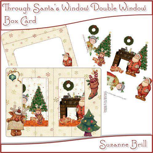 Through Santa's Window Printable Double Window Box Card