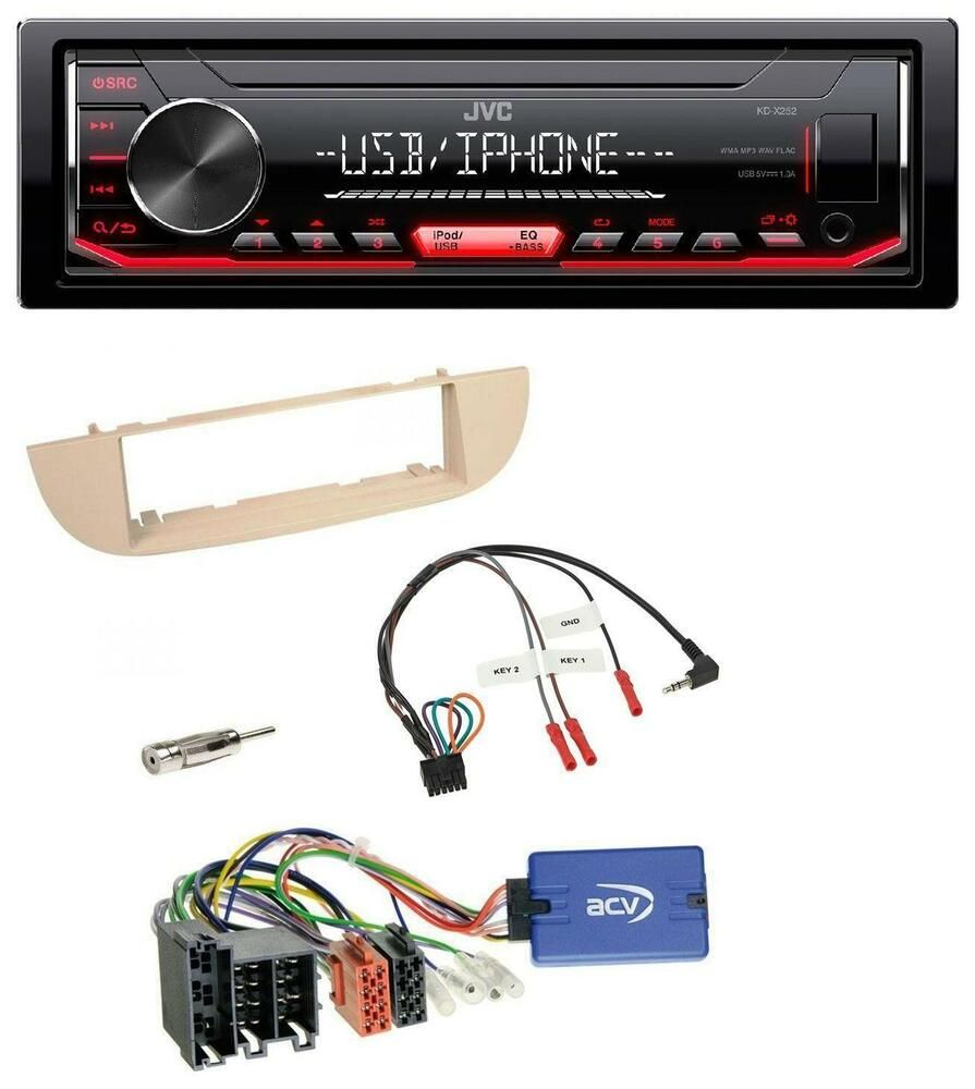 Ebay Angebote Mp3 Jvc 1din Lenkrad Usb Mp3 Autoradio Fur Fiat 500