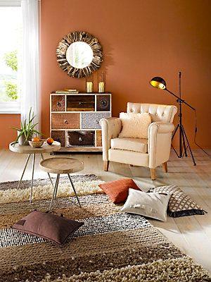 décoration de #salon style #colonial - cosy et chaleureux avec ...