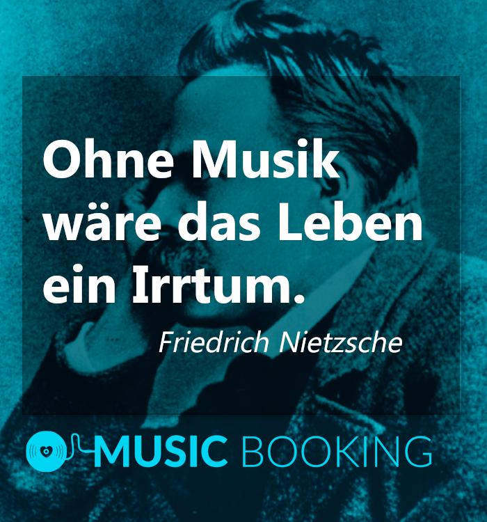 Ohne Musik Ware Das Leben Ein Irrtum Friedrich Nietzsche Musicbooking Musik Zitat Spruch Philosophie Musik Friedrich Nietzsche Leben