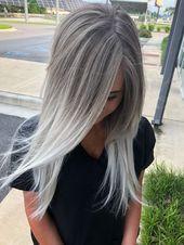 Silver blonde ombré made by me, I love blonde hair !!!!!! #redkenshade ...,  #balayagehairdiy #Blonde #Hair #love #Ombre #redkenshade #Silver