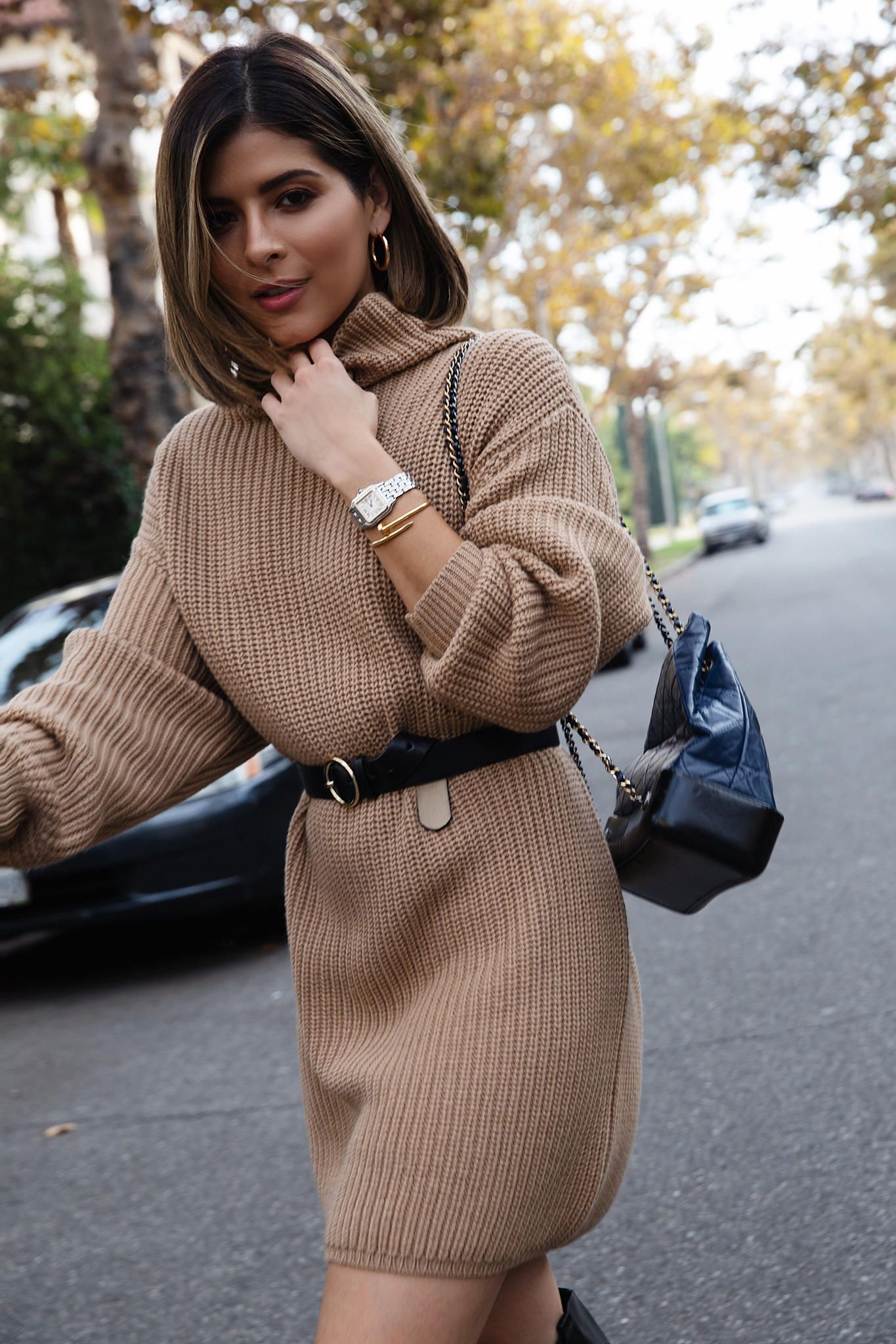 3 Last Minute Thanksgiving Outfit Ideas The Girl From Panama Knitted Winter Dress Sweater Dress Knitted Dress Outfit [ 2048 x 1365 Pixel ]