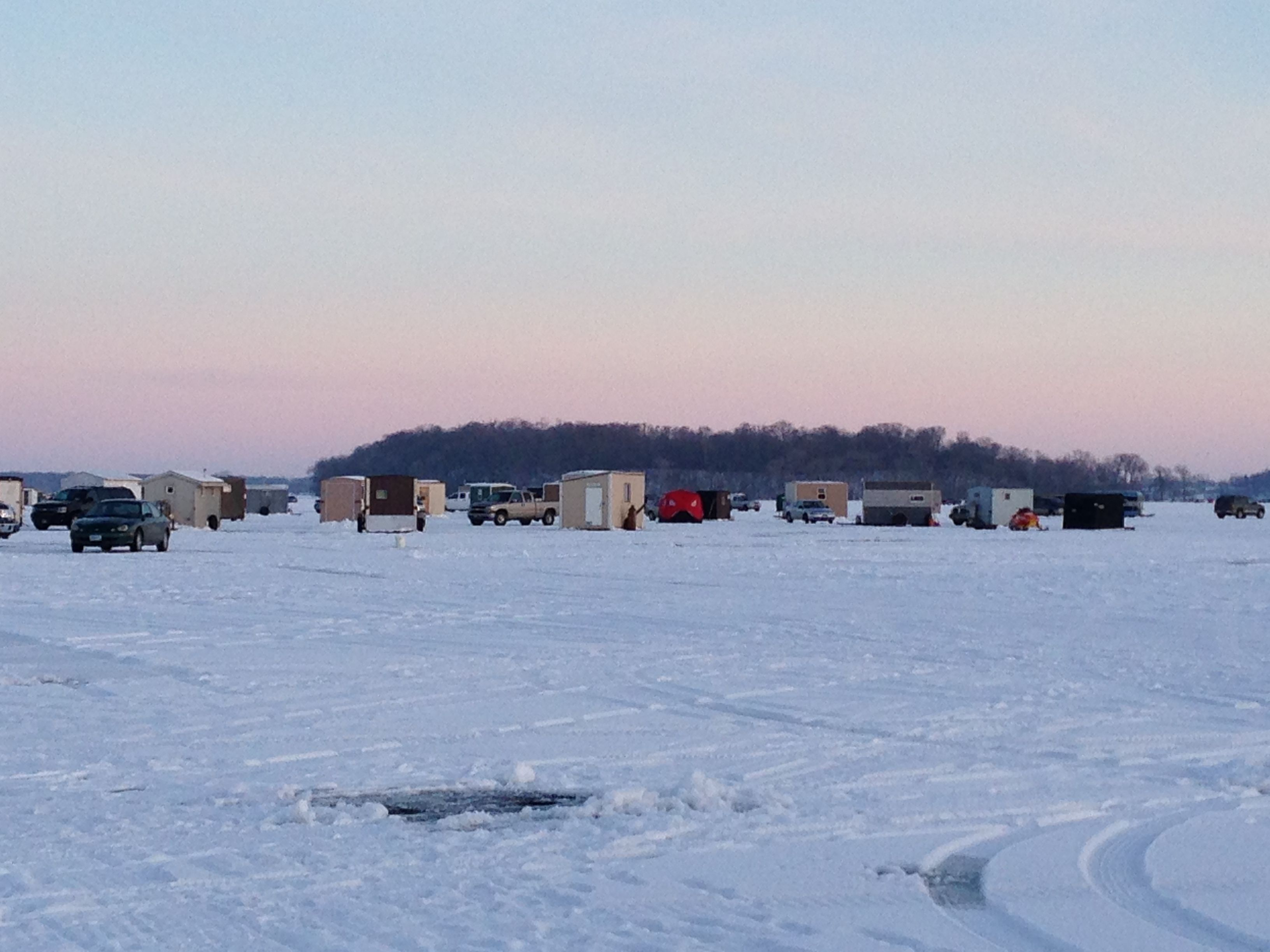 ice fishing on lake waconia minnesota 10 000 lakes
