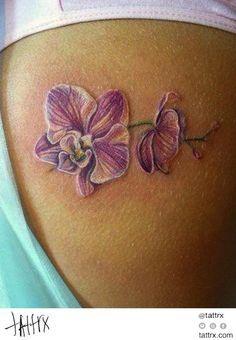 orchidee 3d tattoo