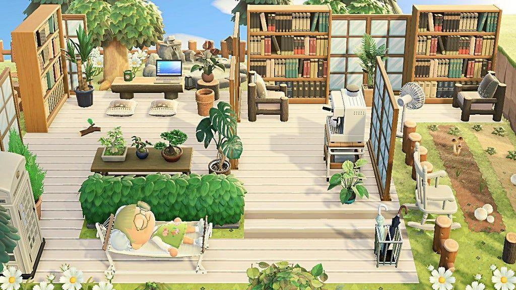 Outdoor Library in 2020 | Animal crossing, Animal crossing ...