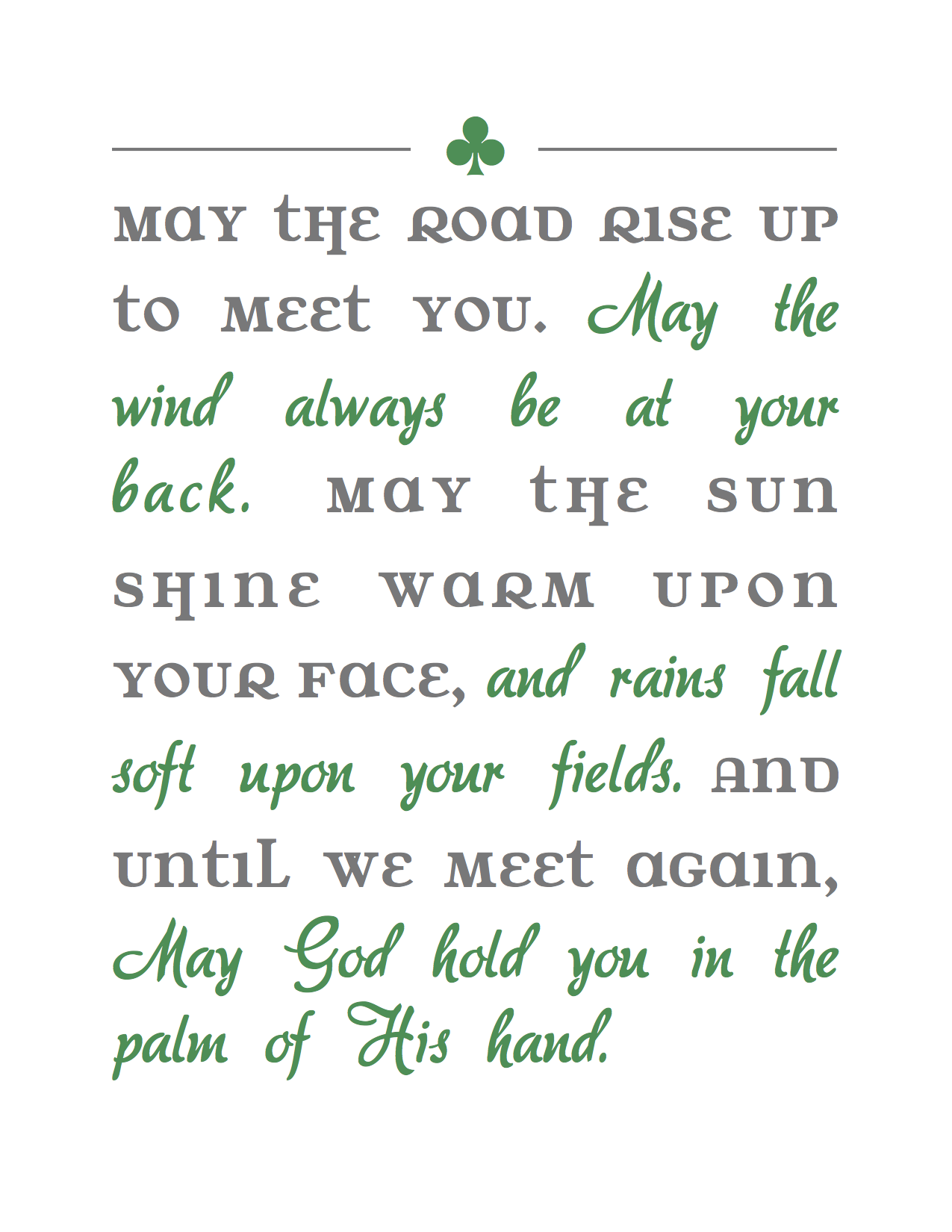 irish blessing printable. My elementary school principal ...