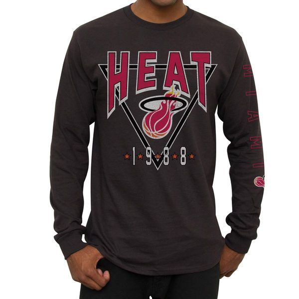 Miami Heat Team Trifecta Long Sleeve T-Shirt - Black - $12.99