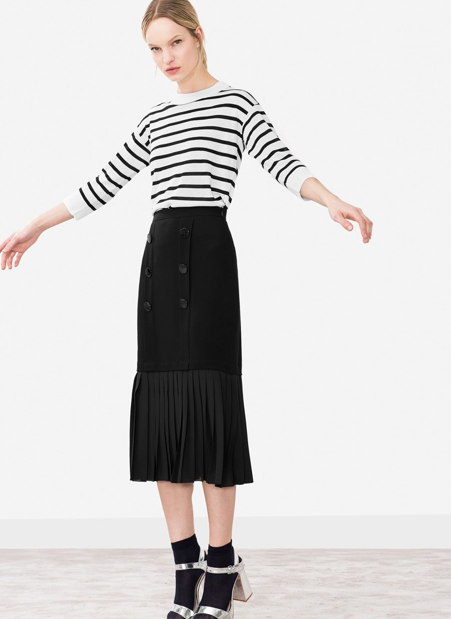 9f0a3a15456 Uterqüe Spain Product Page - Ready to wear - See all - Pleated skirt - 89