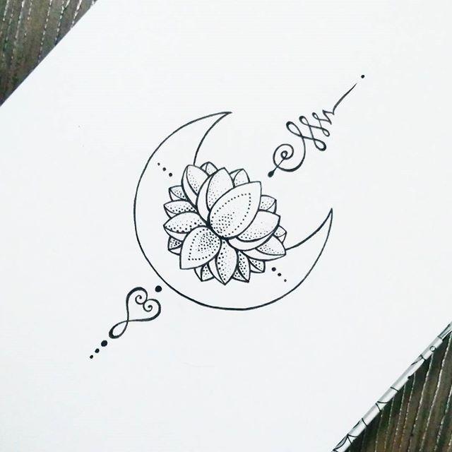 Unalome Tattoo Moon Lotus Tattoos Primer Tatuaje
