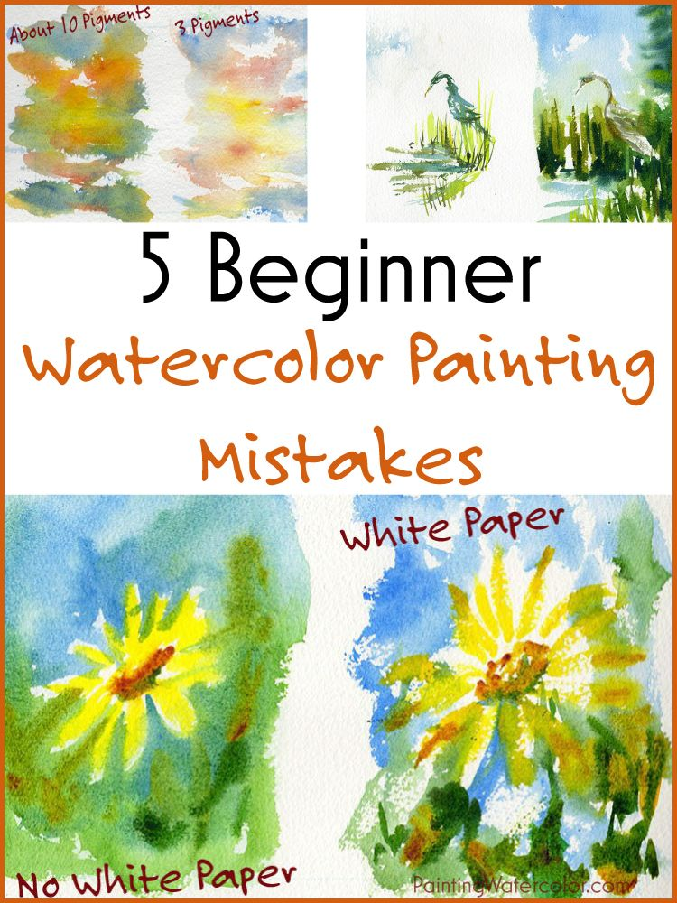 Beginning Watercolor Tutorial Gradient Sunset Sky And Mountains